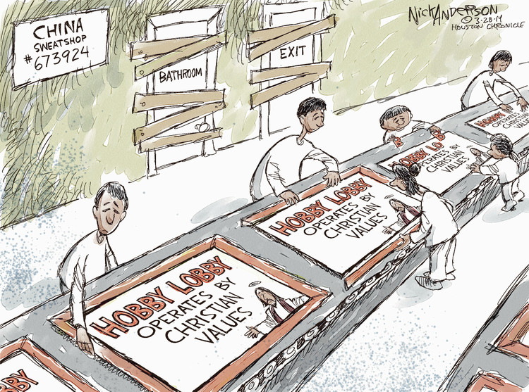 Nick Anderson for Mar 28, 2014 Comic Strip