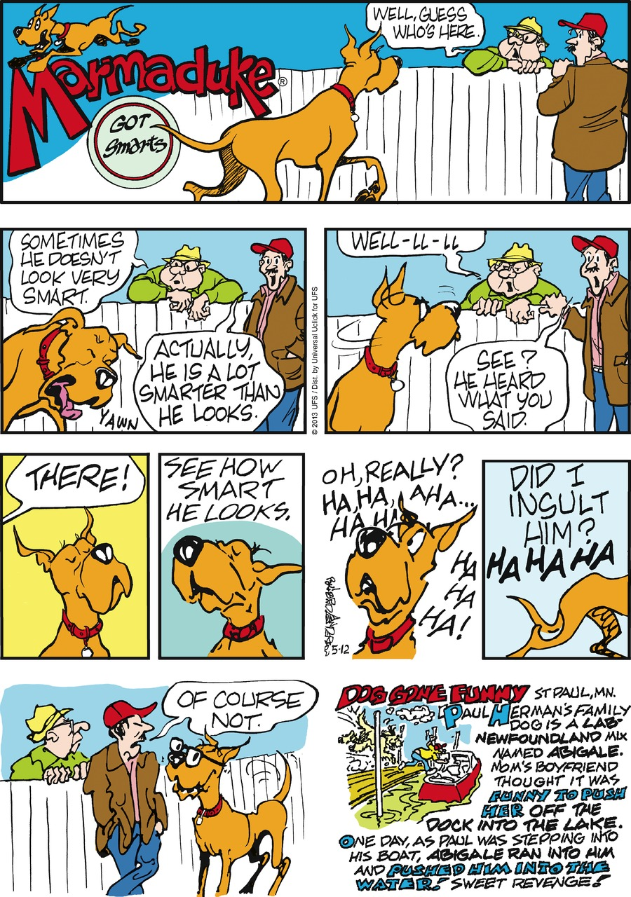 Marmaduke for May 12, 2013 Comic Strip
