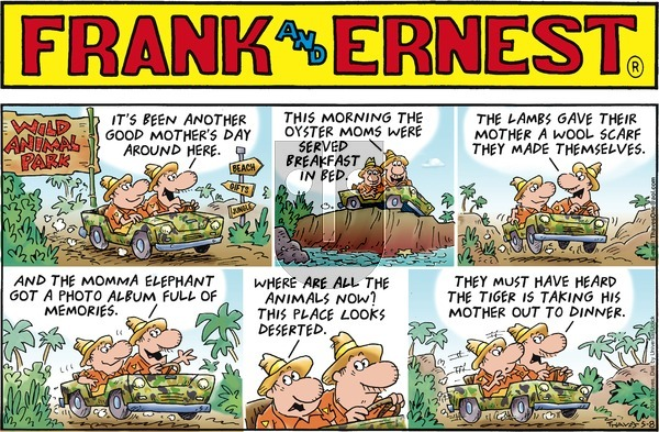 Frank and Ernest - Sunday May 8, 2016 Comic Strip