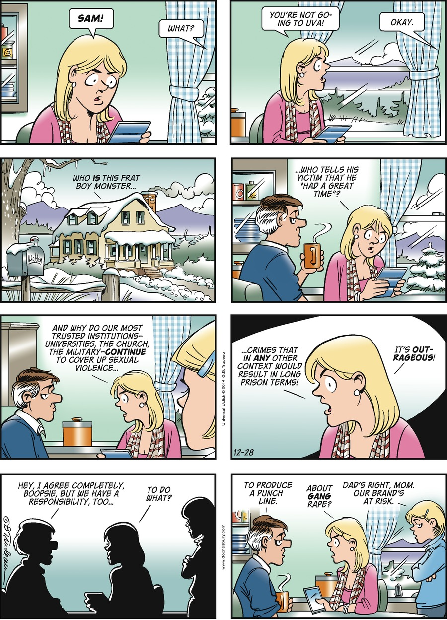 Doonesbury Comic Strip for December 28, 2014