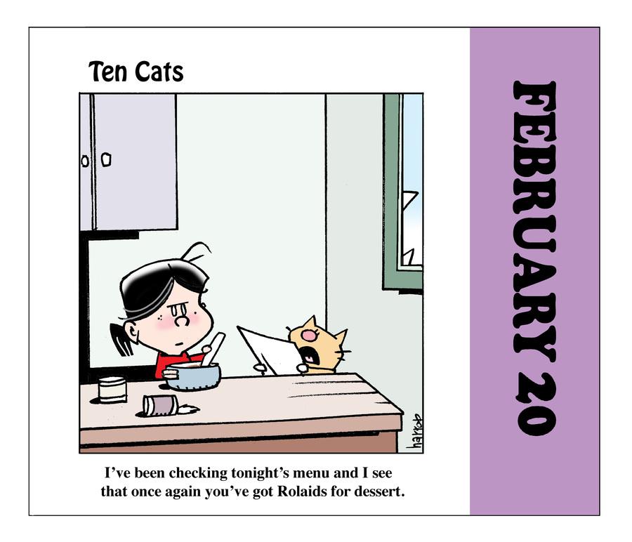 Ten Cats by Graham Harrop on Sat, 20 Feb 2021