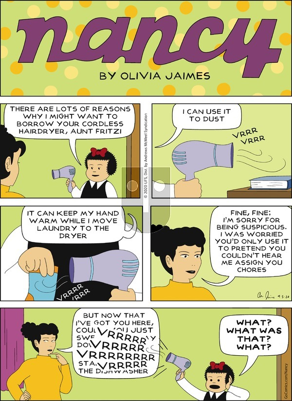 Nancy on Sunday April 5, 2020 Comic Strip
