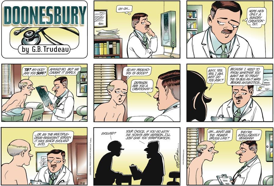 Doonesbury Comic Strip for December 18, 2005