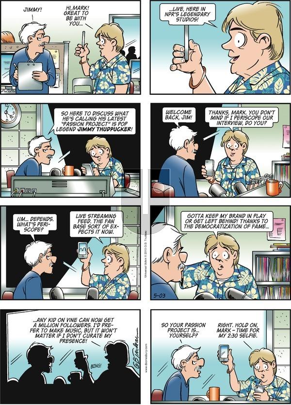 Doonesbury on Sunday May 3, 2015 Comic Strip