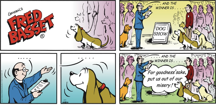 Fred Basset Comic Strip for March 11, 2018