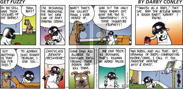 Get Fuzzy on Sunday December 8, 2013 Comic Strip