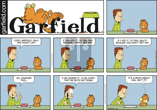 Garfield on Sunday April 21, 2019 Comic Strip