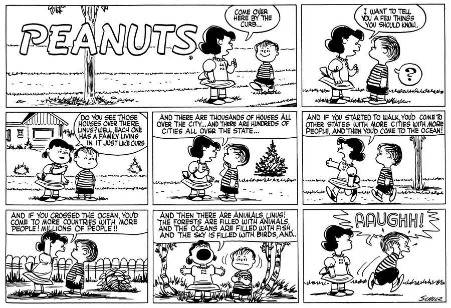 Peanuts Comic Strip for October 09, 1955