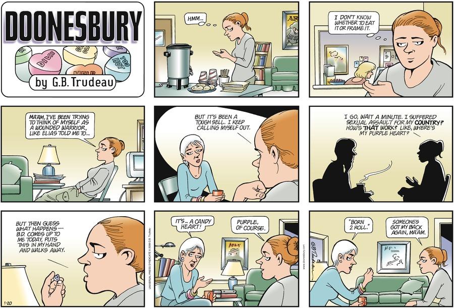 Doonesbury Comic Strip for January 20, 2008