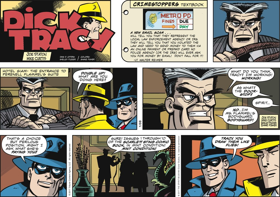 Dick Tracy for Jan 8, 2017 Comic Strip