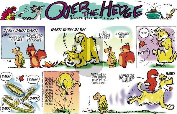 Over the Hedge on Sunday November 26, 2017 Comic Strip