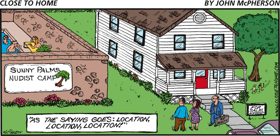 Close to Home Comic Strip for April 11, 2021
