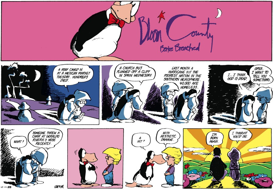 Bloom County Comic Strip for December 11, 1988