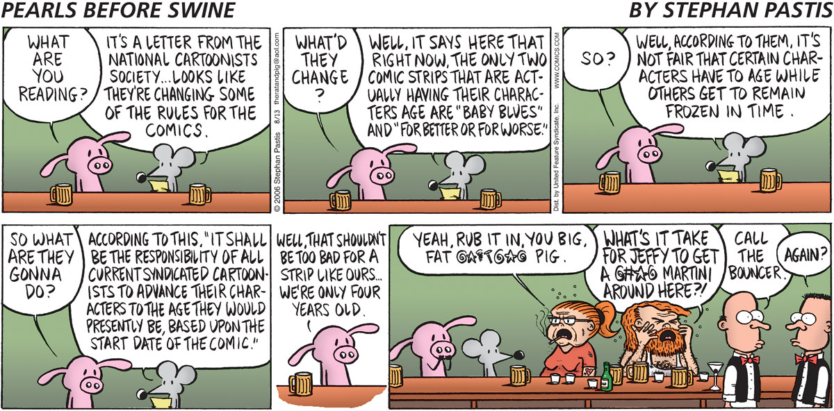 Pearls Before Swine Comic Strip for August 13, 2006