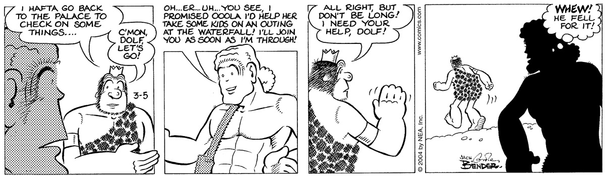 Alley Oop for Mar 5, 2004 Comic Strip