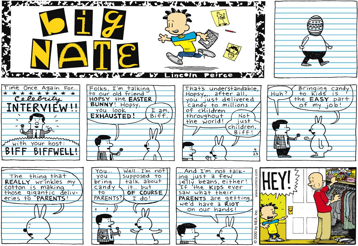 Big Nate Comic Strip for April 23, 2000