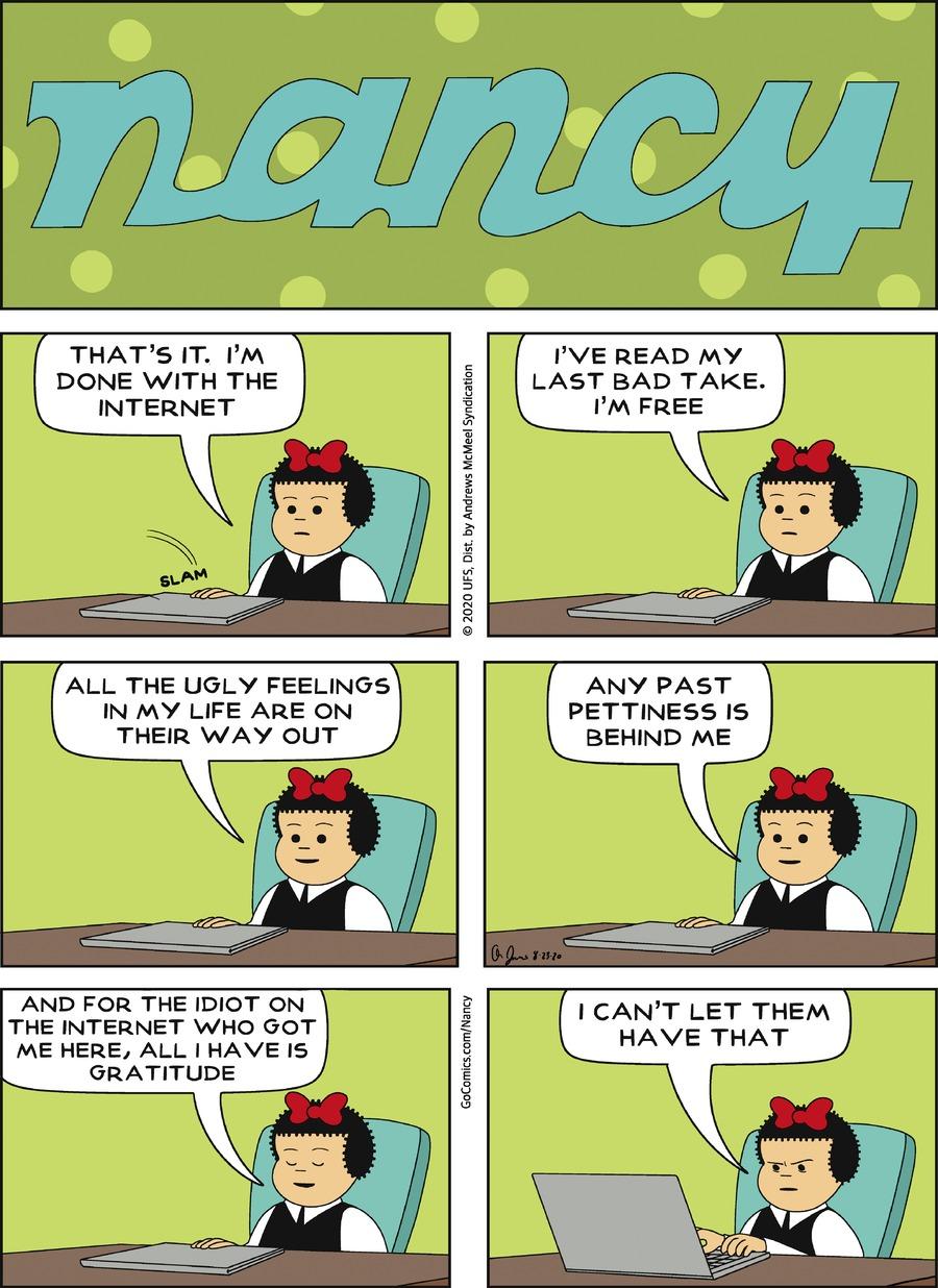 Nancy Comic Strip for August 23, 2020
