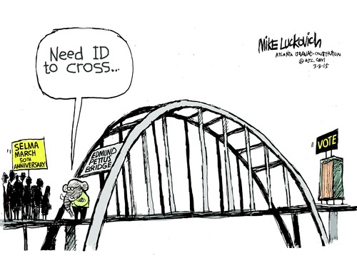 Mike Luckovich | Need Voter ID to Cross / assets.amuniversal.com