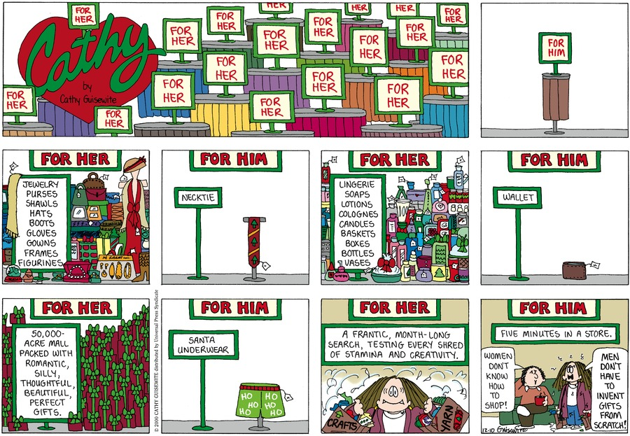 Cathy for Dec 11, 2011 Comic Strip