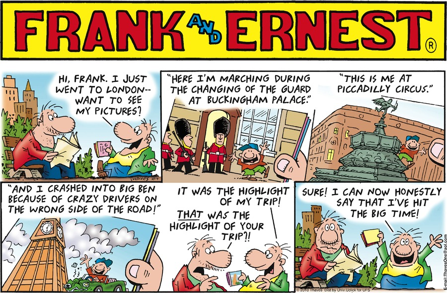 Frank and Ernest for Oct 4, 2015 Comic Strip