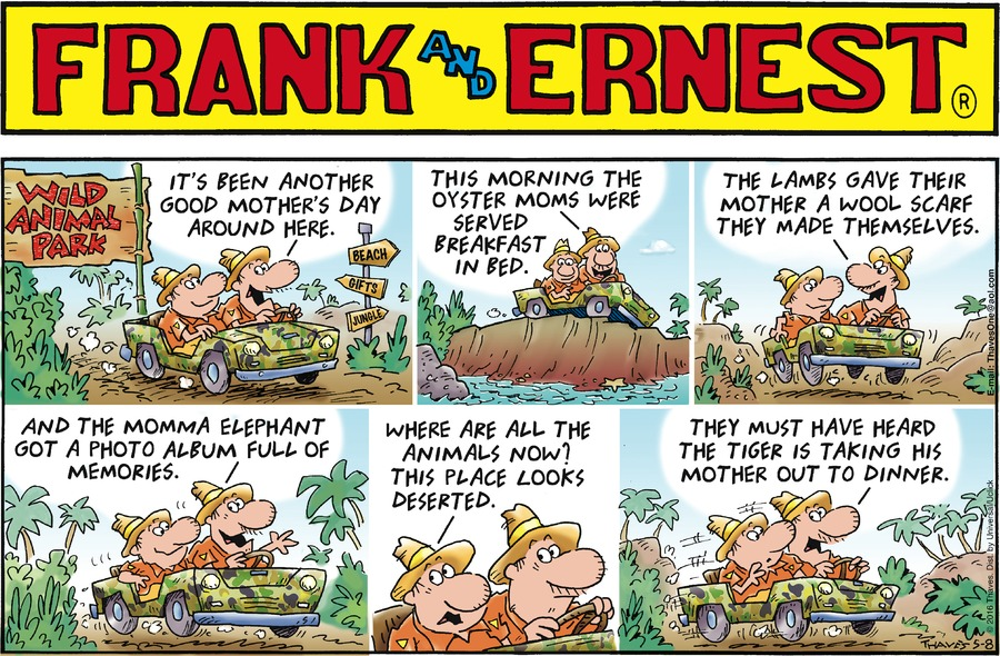 Frank and Ernest Comic Strip for May 08, 2016