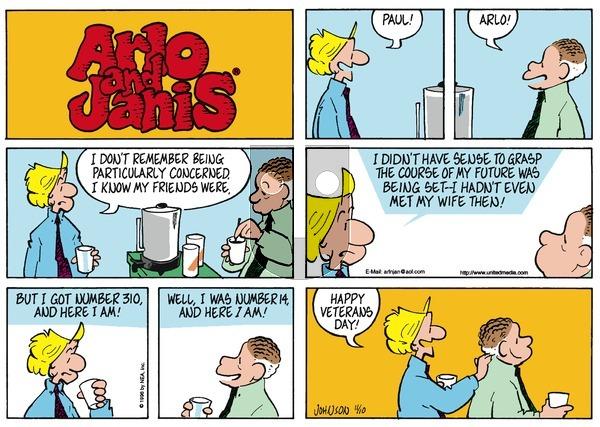 Arlo and Janis on Sunday November 10, 1996 Comic Strip