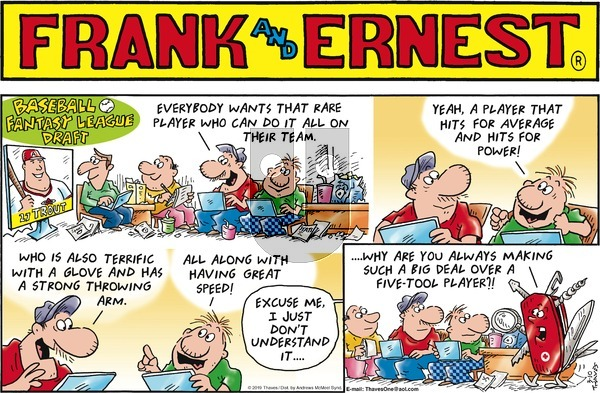 Frank and Ernest on Sunday March 10, 2019 Comic Strip