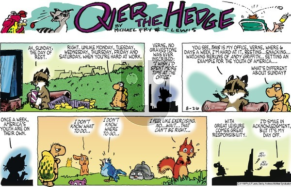 Over the Hedge on Sunday August 26, 2018 Comic Strip