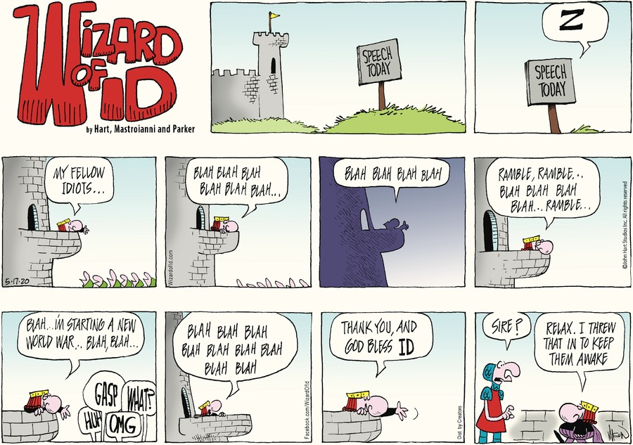Wizard of Id Comic Strip for May 17, 2020