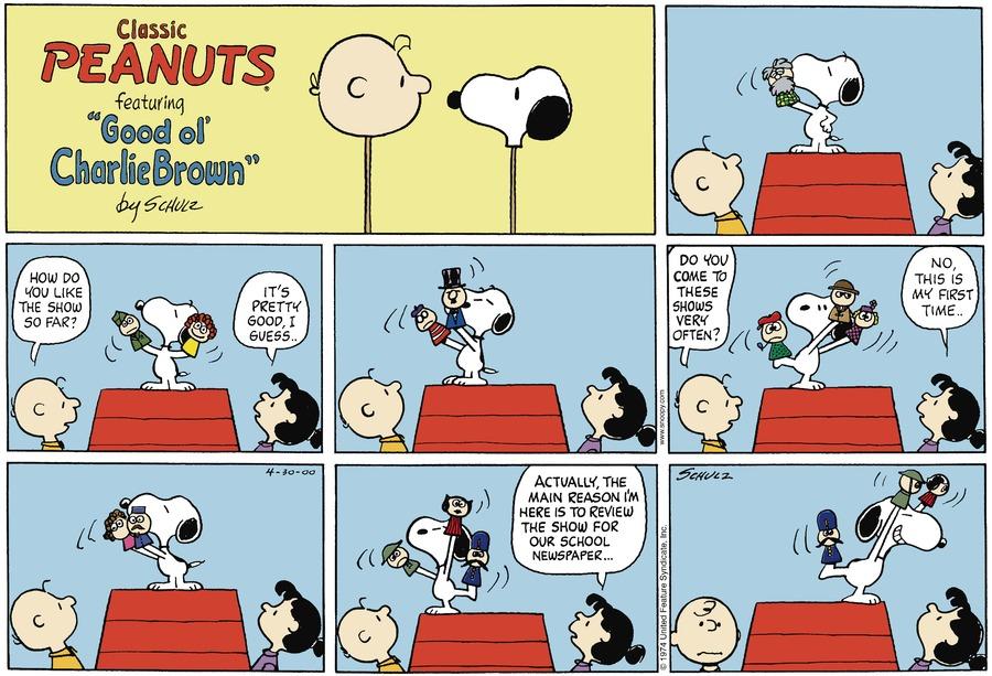 Peanuts Comic Strip for April 30, 2000