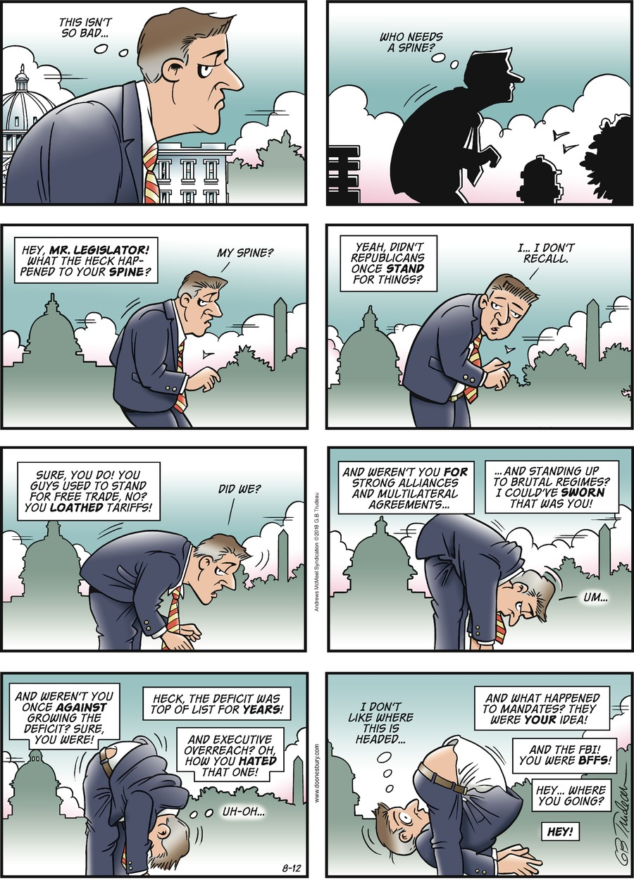 Doonesbury Comic Strip for August 12, 2018