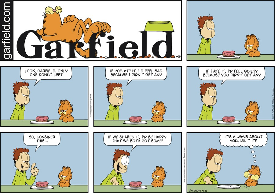 Garfield Comic Strip for April 21, 2019