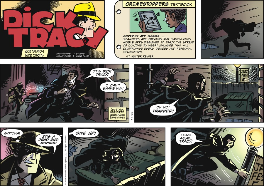 Dick Tracy Comic Strip for October 25, 2020