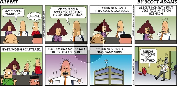 Dilbert on Sunday July 12, 2015 Comic Strip