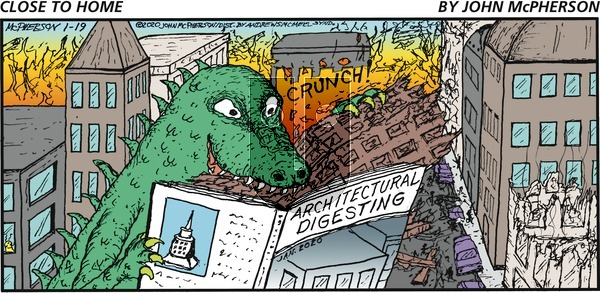 Close to Home - Sunday January 19, 2020 Comic Strip