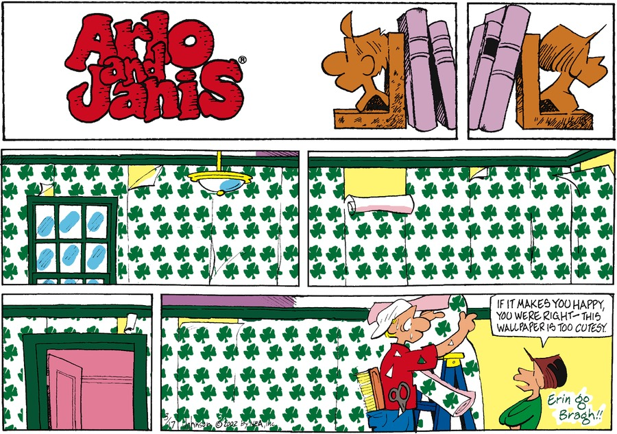 Arlo and Janis Comic Strip for March 17, 2002