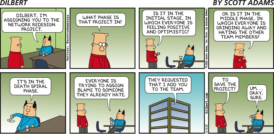 Assigning Dilbert To Project - Dilbert by Scott Adams
