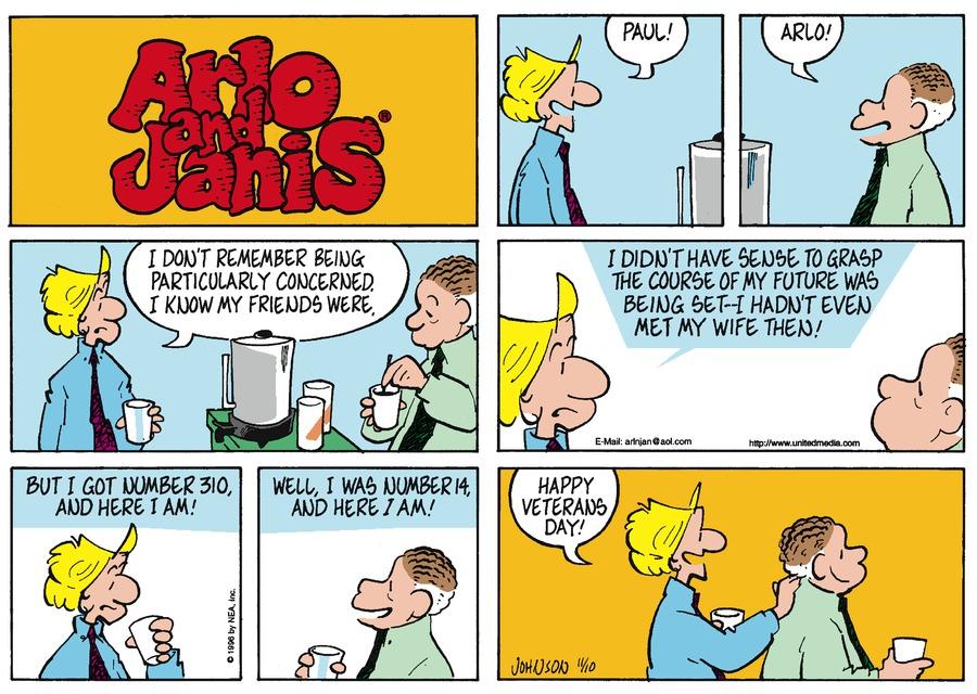 Arlo and Janis for Nov 10, 1996 Comic Strip