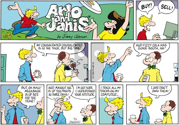 Arlo and Janis on Sunday July 13, 1997 Comic Strip