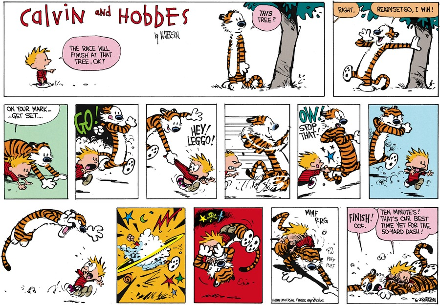 Calvin and Hobbes Comic Strip for August 07, 1988