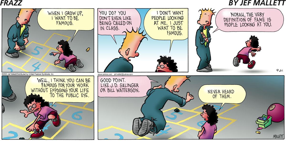 Frazz Comic Strip for September 21, 2003