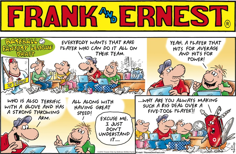 Frank and Ernest Comic Strip for March 10, 2019