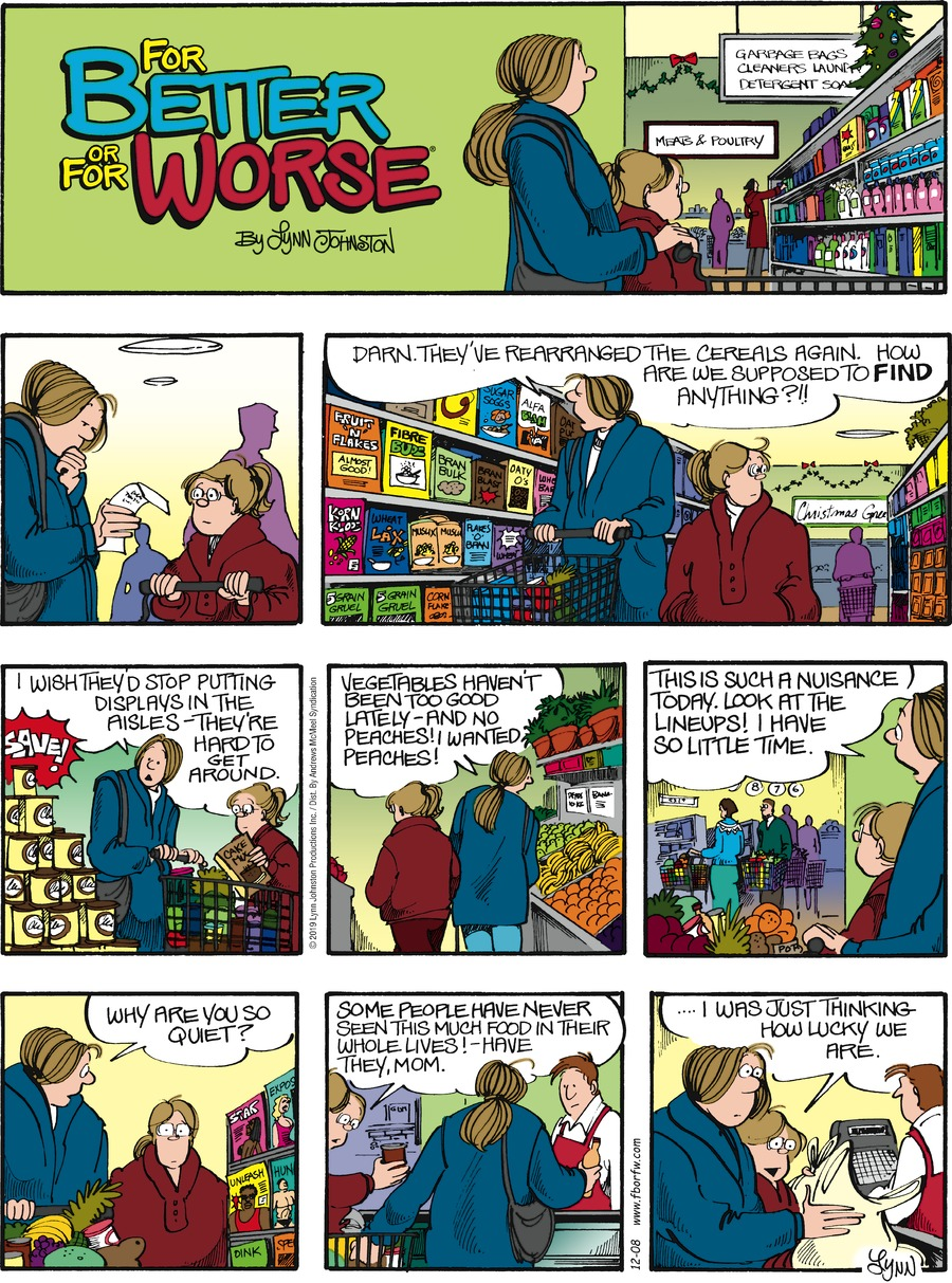 For Better or For Worse Comic Strip for December 08, 2019