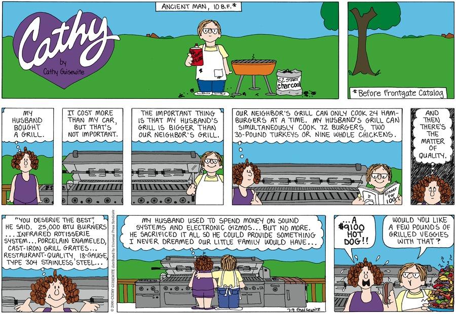 Cathy for Jul 9, 2000 Comic Strip