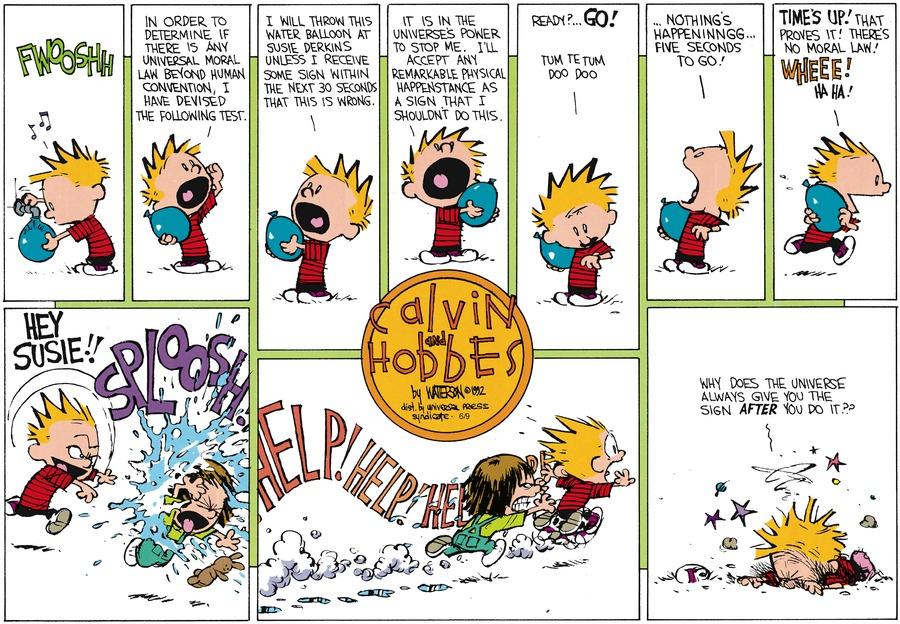 Calvin and Hobbes for Jul 26, 1992 Comic Strip