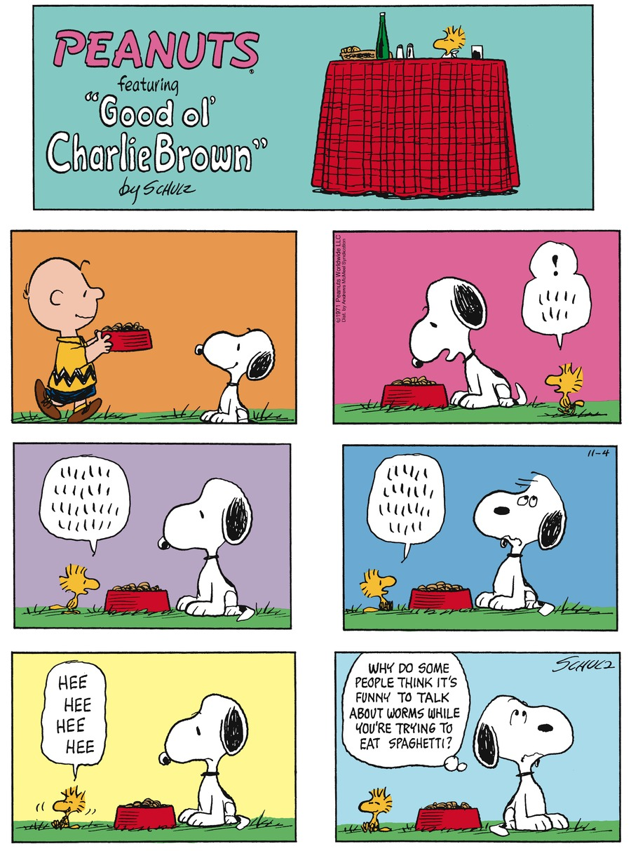Peanuts by Charles Schulz for November 04, 2018