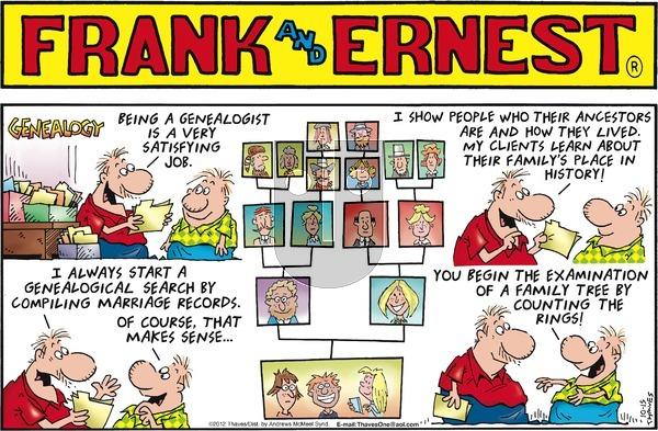 Frank and Ernest on Sunday October 15, 2017 Comic Strip