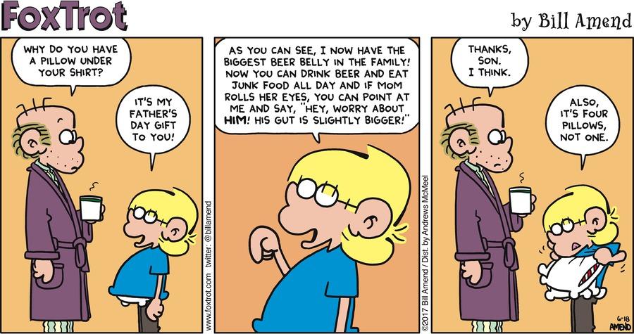 FoxTrot for Jun 18, 2017 Comic Strip