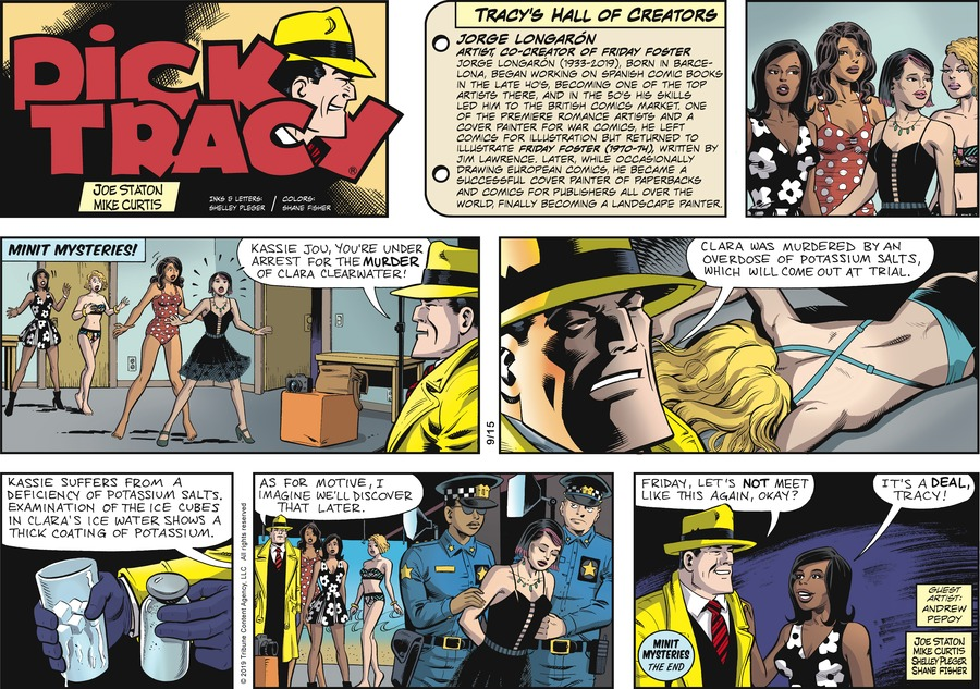 Dick Tracy by Joe Staton and Mike Curtis for September 15, 2019