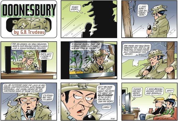 Doonesbury on Sunday December 25, 2005 Comic Strip